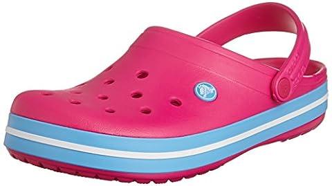 Crocs Crocband Unisex - Erwachsene Clogs, Rosa (Candy Pink/Bluebell 6EF),38-39EU(UKM5/W6/USM6W8)