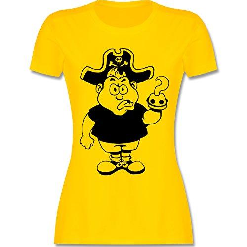 Piraten & Totenkopf - Piraten - tailliertes Premium T-Shirt mit Rundhalsausschnitt für Damen Gelb
