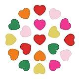 Pandahall-Corazon Abalorios de Madera de Color Mezclado para Hacer el Regalo del Dia de Infantil, sin Plomo, Tenido, 18x18x6mm, Agujero: 2 mm
