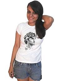 LetsFlaunt Roger Federer Sketch T-shirt white girls Dry-Fit Nw