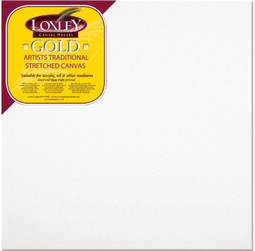 loxley-tela-tesa-preparata-di-grana-media-per-dipingere-gold-61x61-cm-spessore-18-mm