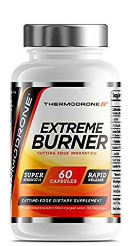 Fat Burners - Extreme Fat Burners for Men & Women - 60 Vegetarian Capsules - UK Manufactured - High Strength Premium Safe Legal Fat Burning Pills - Diet Pills that work fast - Vegetarian & Vegan Friendly – Bust Belly Fat Today – Order From A Trusted UK Weight Loss Tablet Brand Thermodrone (60 x Vegetarian