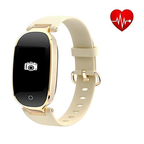 62bcadb8e07 GLORY Fitness Tracker HR, pulsera inteligente con monitor de frecuencia  cardíaca/monitor de presión