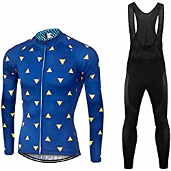 Uglyfrog #04 2018 Nuevo De Invierno Mantener caliente Manga Larga Maillot Ciclismo Hombre Bodies +Long Bib Pant with Gel Pad Winter Style