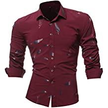 bd82e9d273 Luckycat Persönlichkeits Druck beiläufige beiläufige dünne Lange Hülsen  Gedruckte Hemd Oberseiten ...