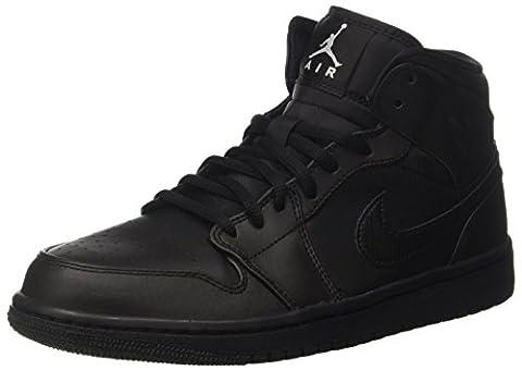 Nike Air Jordan 1 Mid, Herren Basketballschuhe, Schwarz (Black/white), 41 EU (Nike Jordan 1 Mid)