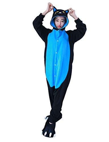 Mena Uk Cosplay Pyjamas Unisex Kostüm Jumpsuit Tier Schlafanzug Erwachsene Fasching Cosplay Karneval S M L XL ( Farbe : Cat , größe : M ) (Damen Cat Kostüm Uk)