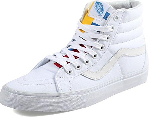 Hi Sneakers Sk8 Reissue White Hohe Erwachsene Unisex red blue Vans True qYRatw