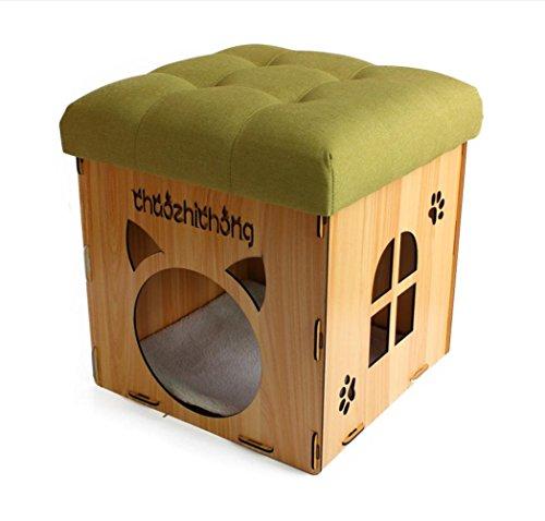 Holzmaserung Zuhause Nehmen Sie einen Hocker Katzen und Hunde Haus kann untergebracht werden Multifunktions Kreativ Hocker Stuhl Pet Home , 2