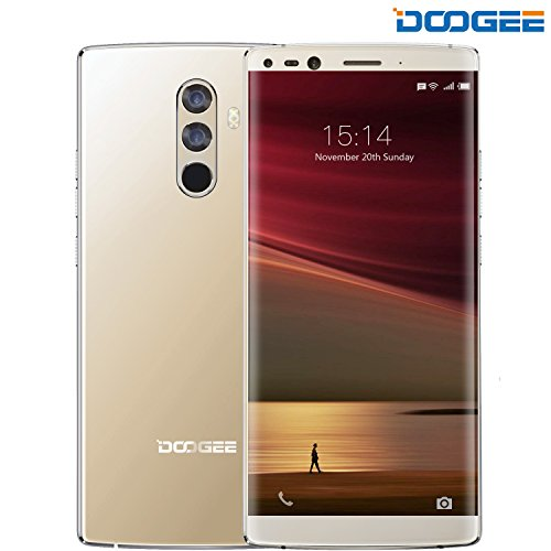 "Smartphone Ohne vertrag, DOOGEE Mix 2 4G Dual Sim Günstig Handy, Android 7.1 Smartphones (5.99"" FHD Display, 6GB RAM + 64GB, MTK Helio P25, 16.0MP+13.0MP Kamera, 4060mAh, Gesichts Entsperrung) - Gold"