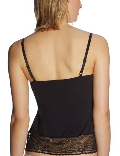Schiesser Damen Unterhemd Top Schwarz (000-schwarz)