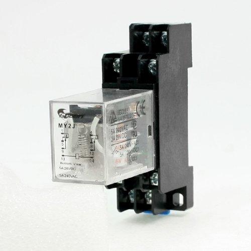 MY2J AC, 6 Rollen, allgemeine Zweck Relay 8 Pins DPDT 5A 240VAC/28VDC w Sockel Sockel - Dpdt Relay-dip