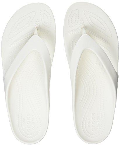 Crocs kadee ii flip women, infradito donna, bianco (white), 41/42 eu