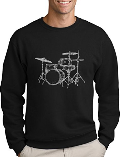 Cooler Geschenk Pullover für Schlagzeuger und Drummer Sweatshirt Large Schwarz (T-shirt Toms Freunde)