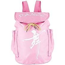 TiaoBug Mochila de Danza Ballet Niña Color Rosa Infántil Bolsa de Ballet  Mochila Escolar Princesa Alumnas f4368d4c447d2