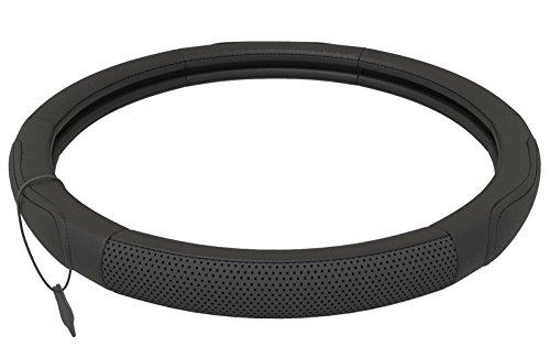 Couvre Volant Cuir Noir | Universel 37-39 cm | Accessoires Auto | Decoration Voiture Interieur |