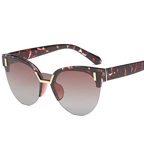 Saplnu Sonnenbrille Teen Girl, Sonnenbrille weibliche Cat Eye-Mode, transparenter Rahmen, geeignet zum Fahren, Reisen, Party, Verschiedene Gesichter, Rosa, Schwarz, Blau,brownframe