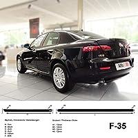 Spangenberg 370003501 - Listones de protección Lateral para Alfa Romeo 159 Limousine de 4 Puertas (