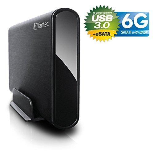 FANTEC 16593 DB-ALU3-6G schwarz 2TB 3.5 Zoll SATA 6G externe Festplatte mit USB 3.0