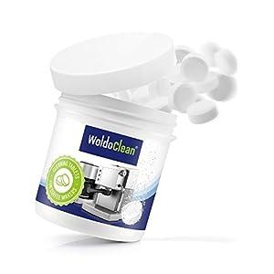WoldoClean 40x Reinigungstabletten für Kaffeevollautomaten und Kaffeemaschinen Reinigungstabs Kaffeefettlöser