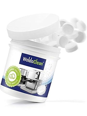 WoldoClean 40x Reinigungstabletten für Kaffeevollautomaten und Kaffeemaschinen Kaffeefettlöser (Top Loser Tee)
