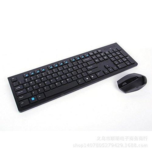 Stilvolle kompakte drahtlose Tastatur und Maus-Set raffinierte Einfachheit drahtlosen Computer-Maus-Tasten-Anzug