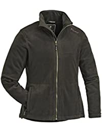 Pinewood 3195 Retriever Damen Fleecejacke oliv/wildlederbraun (189)
