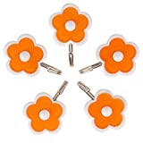 #9: HOKIPO® Flower Design Self Adhesive Hooks, Load Capacity 1.5 Kg, 5 Piece Set, (Random Colors)