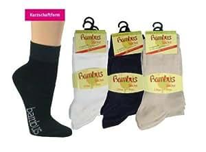 ORIGINAL WOWERAT 6 Paar seidenweiche Bambus Sneaker-Socken Beige,35-38