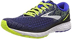 Brooks Herren Ghost 11 Laufschuhe, Schwarz (Black/Blue/Nightlife 069), 45 EU