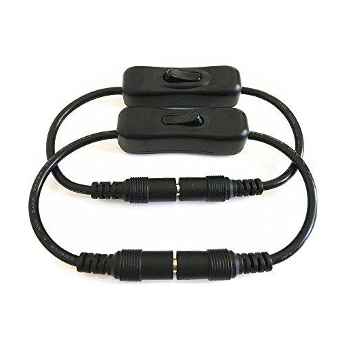 2pcs / pack los interruptores 5.5mmx2.1mm DC macho a hembra M /...