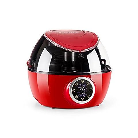 Klarstein VitAir Twist Friteuse à air chaud four multifonction cuiseur vapeur (1230 W, capacité 4 L, 4 modes de cuisson, chaleur tournante) - rouge