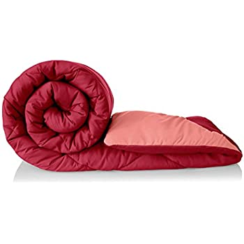 Amazon Brand - Solimo Microfibre Reversible Comforter, Single (Strawberry Pink and Candy Pink, 200 GSM)