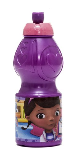 Joy Toy 748932 - Disney Doc McStuffins Sportflasche, 400 ml, 6 x 6 x 18 cm