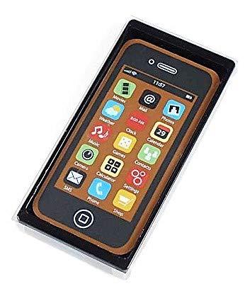 Weibler Confiserie Chocolaterie Hülle mit Smartphone Mobile in Vollmilchschokolade - 1 x 40 Gramm Co Mobile