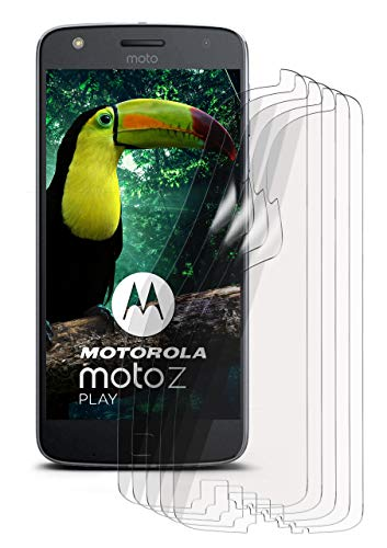 moex 5X Lenovo Moto Z Play | Schutzfolie Klar Bildschirm Schutz [Crystal-Clear] Screen Protector Display Handy-Folie Dünn Bildschirmschutz-Folie für Motorola Moto Z Play Bildschirmfolie