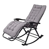 WYX Rocking Chair Adult Leisure Chair Siesta Leisure Home Balcony Folding Single Office Solid Lounge Chair