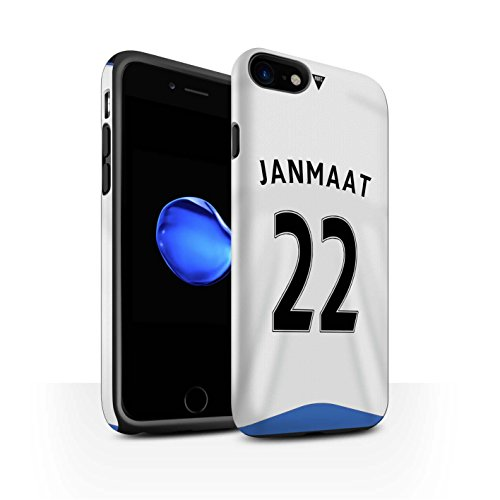 Officiel Newcastle United FC Coque / Matte Robuste Antichoc Etui pour Apple iPhone 7 / Taylor Design / NUFC Maillot Domicile 15/16 Collection Janmaat