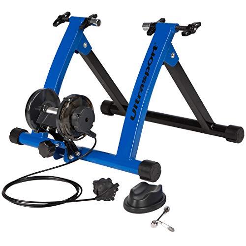 Ultrasport Rodillo para bicicleta con y sin cierre rápido, carga máxima 100 kg; el rodillo de bicicleta permite entrenar con la bicicleta en casa, rodillo, entrenamiento de ciclismo interior