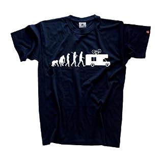 Shirtzshop Erwachsene T-Shirt Original Evolution Caravan Camper, Navy, XL, ss-shop-ev2_carav-t