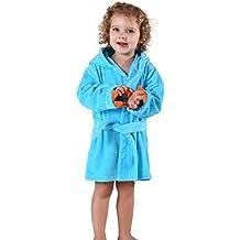 MICHLEY Bebé Ropa Niños Niñas Albornoz Capucha manta Toalla Pijamas Baño Algodón Animale para 0-5 Años