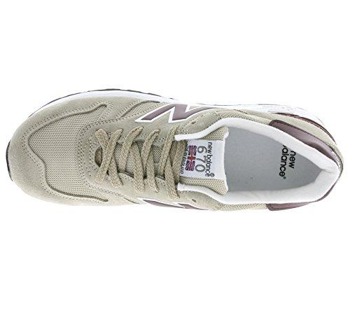 New Balance 670 Hommes Sneaker Beige M670SBP Beige