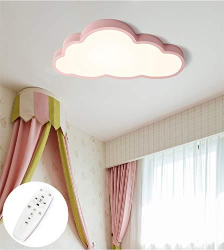 LIUNIAN Deckenleuchte Wolke Kinderzimmer Deckenleuchte Ultradünne führte 5 cm Intelligentes stufenloses Dimmen für Jungen Baby Mädchen Schlafzimmer Kinderzimmer mit Fernbedienung, 36W