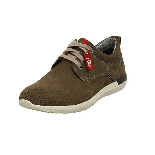 s.Oliver - Zapatos de Cordones para Hombre, Color Verde, Talla 41 EU