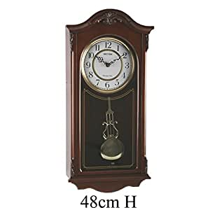 watching clocks horloge murale de qualit en bois avec pendule carillon westminster. Black Bedroom Furniture Sets. Home Design Ideas