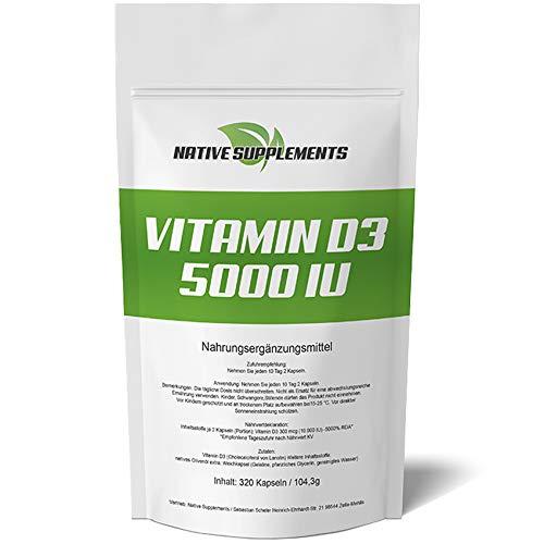 D3, 5000 I.E pro 5 Tagesdosis, Hochdosiert, Hohe Bioverfügbarkeit, Pharmaqualität, Großpackung ()