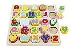 Playtive Kinder Echtholz Spielzug, Geschicklichkeit und logisches Denken fördern Buchstaben 1