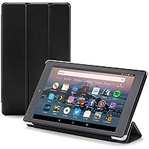 NuPro Funda con soporte y tres posiciones de pliegue para el tablet Fire HD 8, color negro