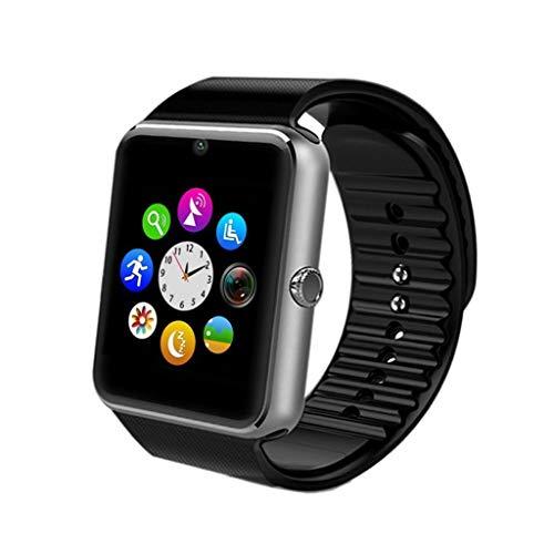 C-Xka Smart-Uhren, Touchscreen Bluetooth-Armbanduhr mit Kamera/Anruferinnerung / SIM-Kartensteckplatz/Schrittzähler Analyse/Schlafüberwachung für Android (volle Funktionen) und IOS (Teilfunktion