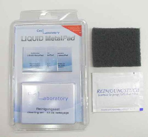 Coollaboratory Liquid Metal Pad Cooling Kit mit 1x Reinigungs-Kit für 3x CPU (Storage Kit Fan)